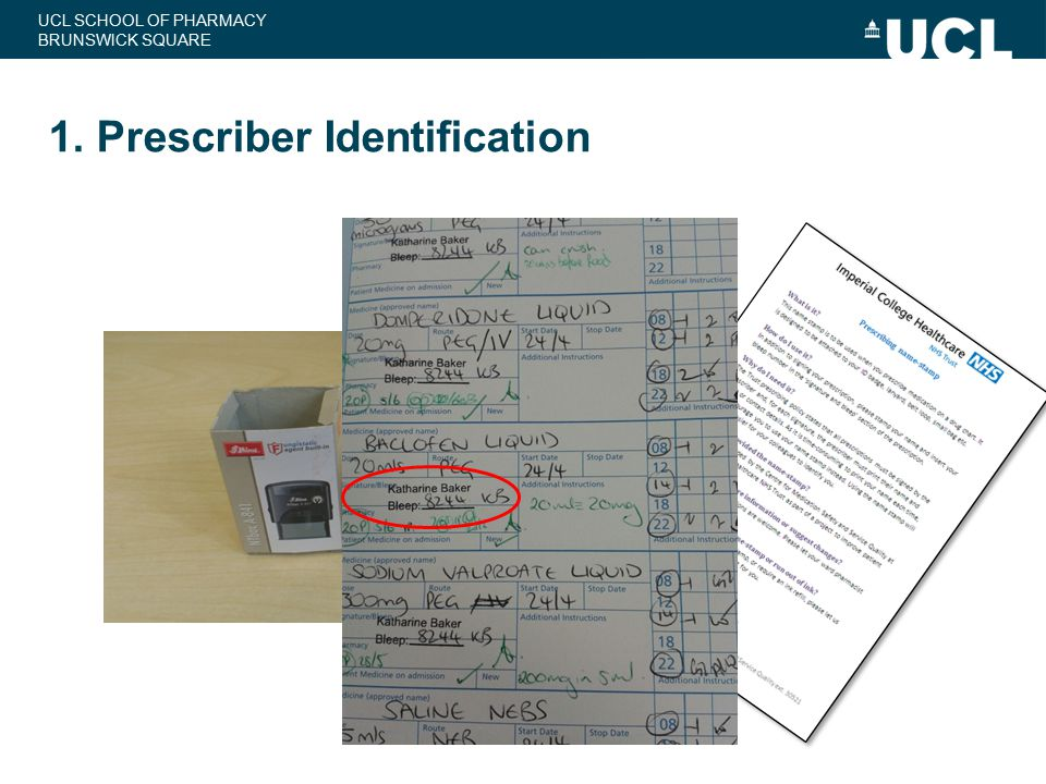 1. Prescriber Identification