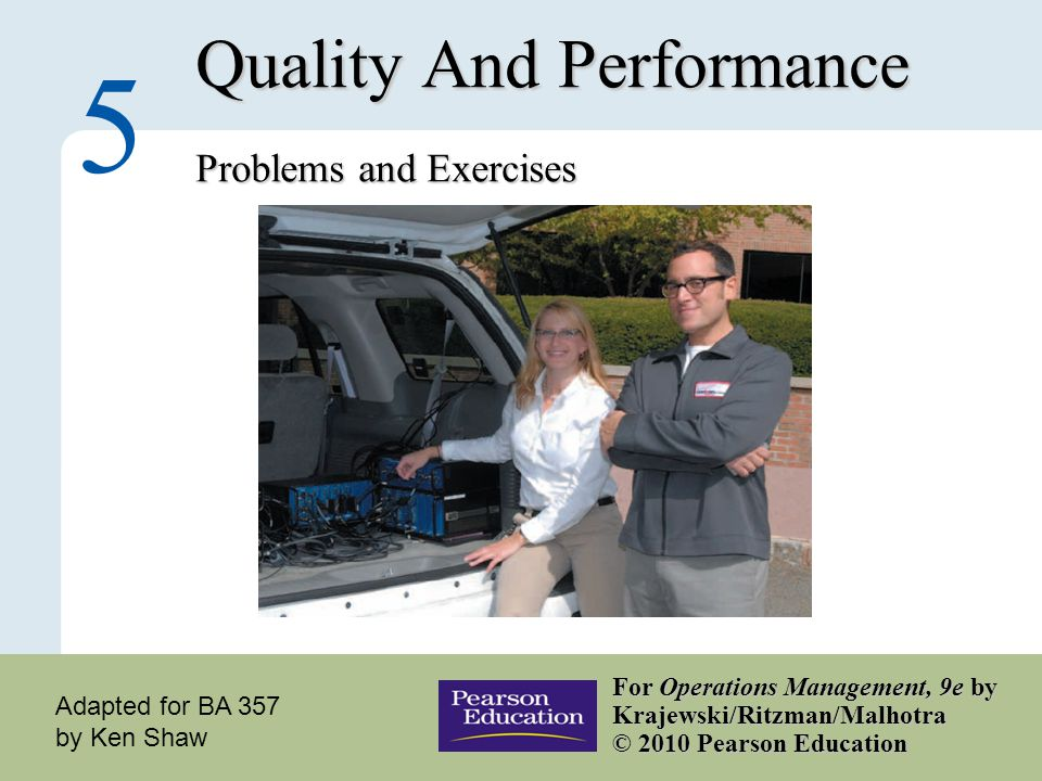 Quality And Performance Problems and Exercises