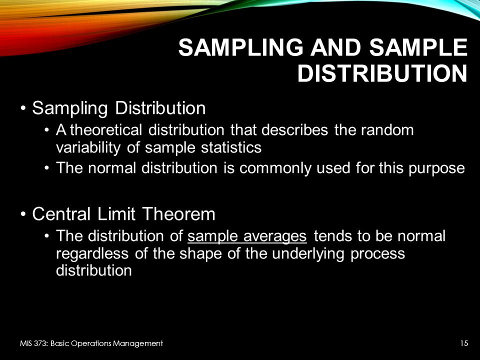 Sampling and Sample Distribution