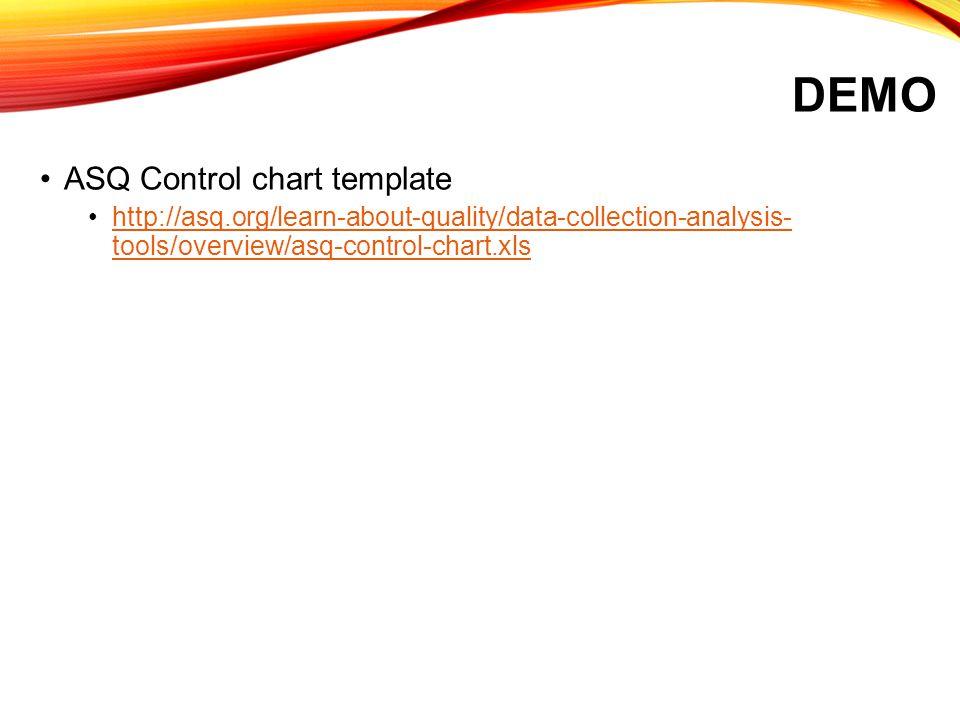 Demo ASQ Control chart template