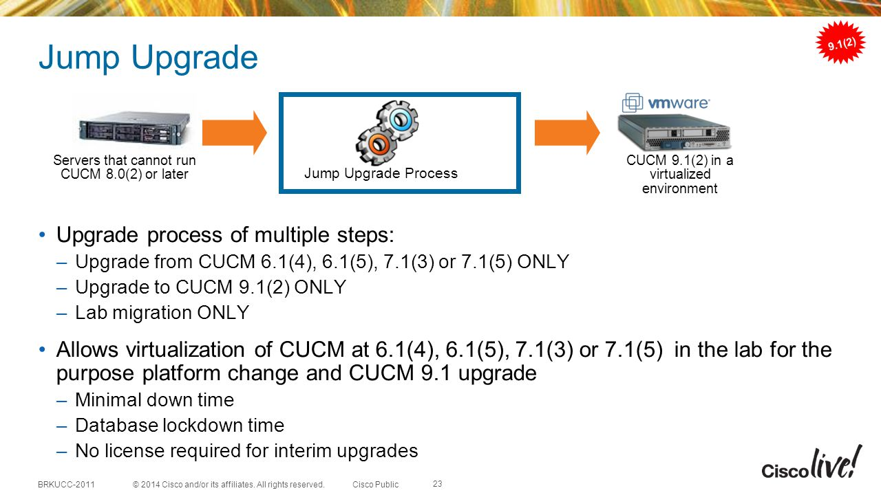 Jump Upgrade Upgrade process of multiple steps: