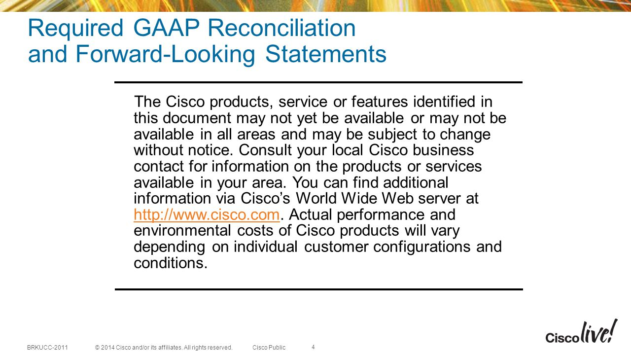 Required GAAP Reconciliation and Forward-Looking Statements