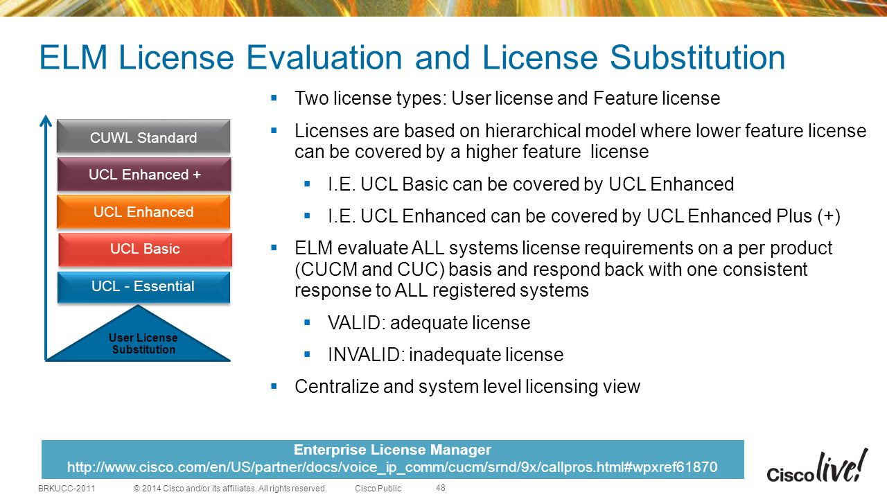 ELM License Evaluation and License Substitution