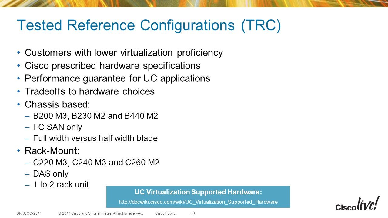 Tested Reference Configurations (TRC)