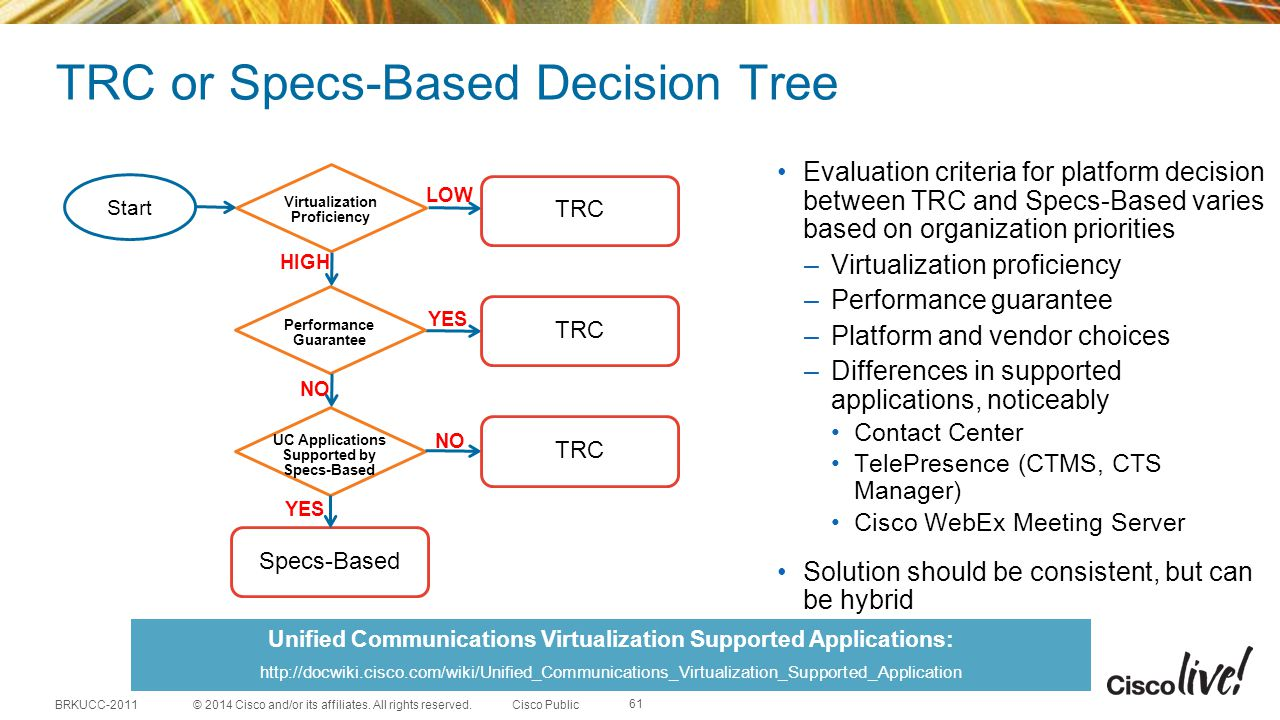 TRC or Specs-Based Decision Tree