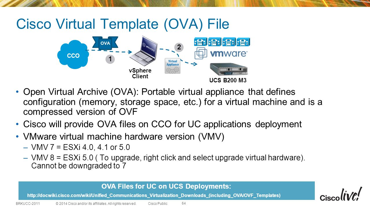 Cisco Virtual Template (OVA) File