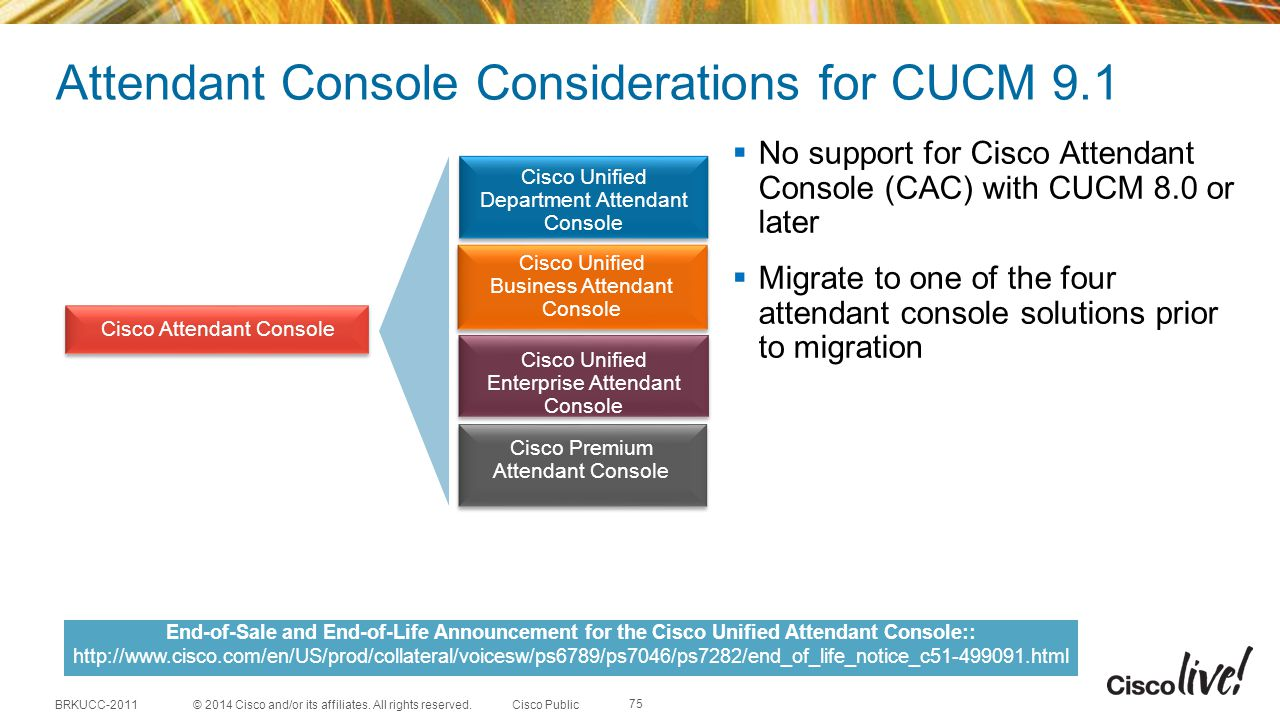 Attendant Console Considerations for CUCM 9.1