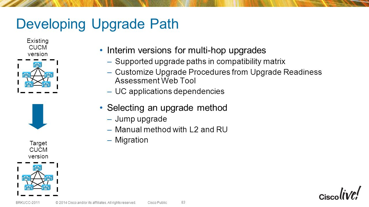 Developing Upgrade Path