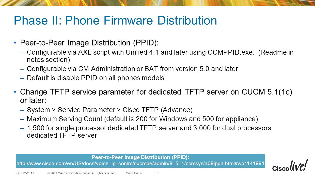 Phase II: Phone Firmware Distribution