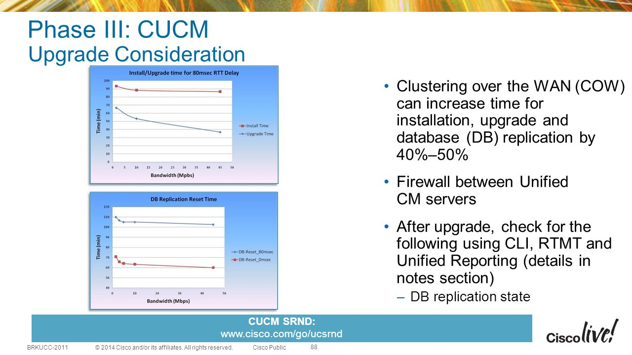 Phase III: CUCM Upgrade Consideration