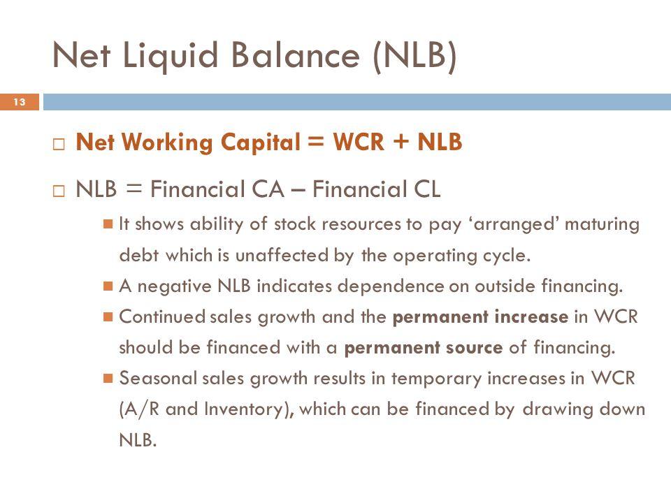 Net Liquid Balance (NLB)