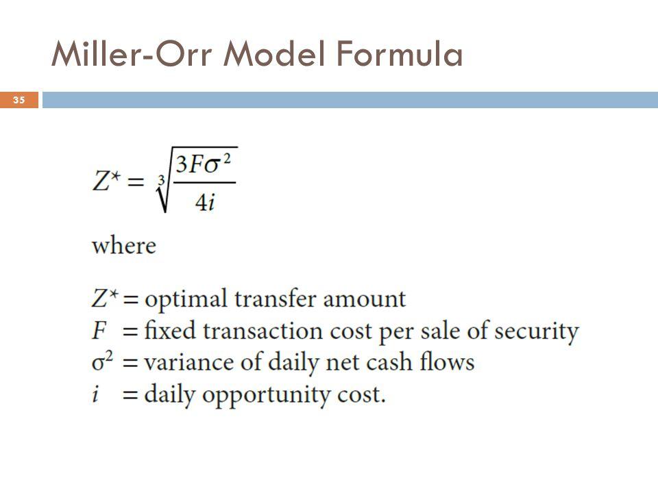 Miller-Orr Model Formula