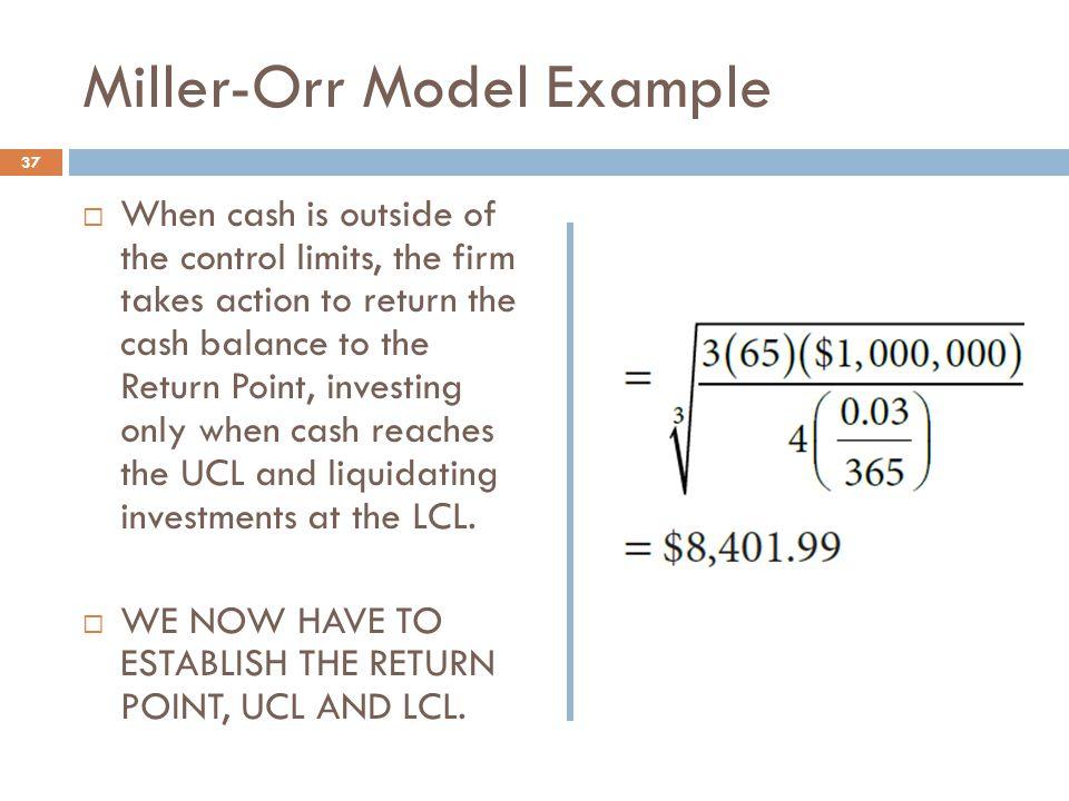 Miller-Orr Model Example