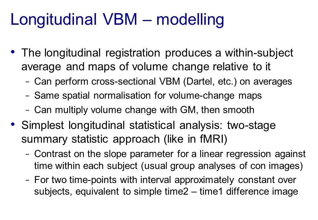Longitudinal VBM – modelling