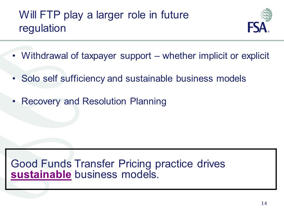 Will FTP play a larger role in future regulation