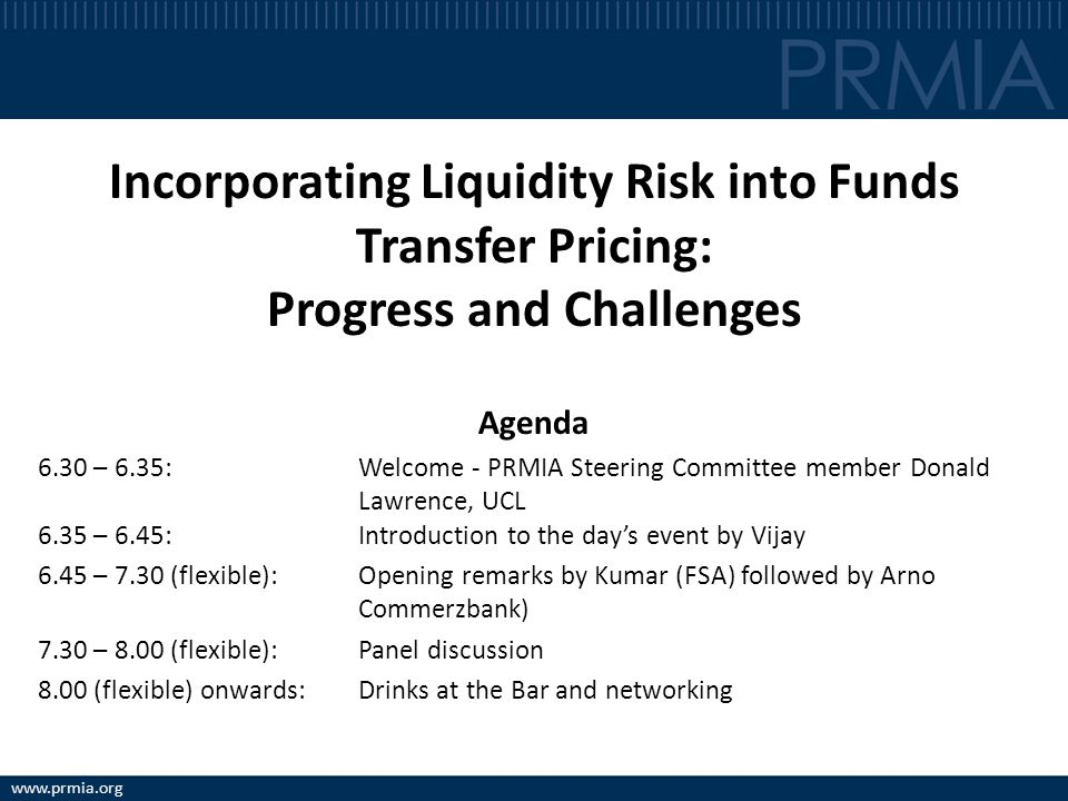 Incorporating Liquidity Risk into Funds Transfer Pricing: Progress and Challenges