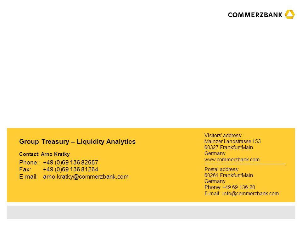 Group Treasury – Liquidity Analytics