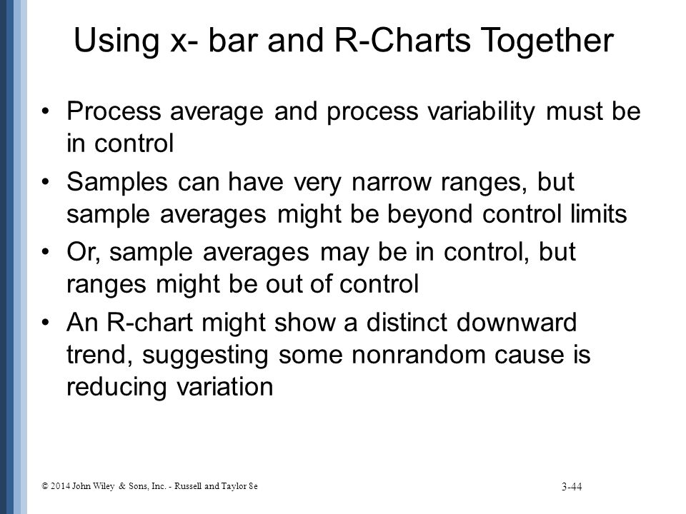 Using x- bar and R-Charts Together