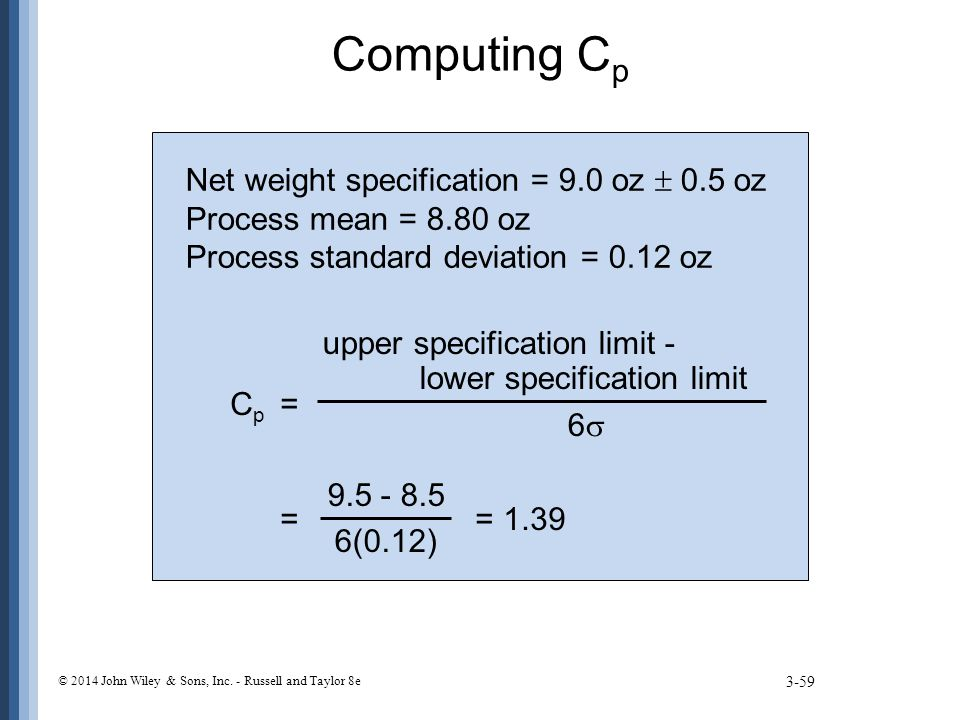 Computing Cp Net weight specification = 9.0 oz  0.5 oz