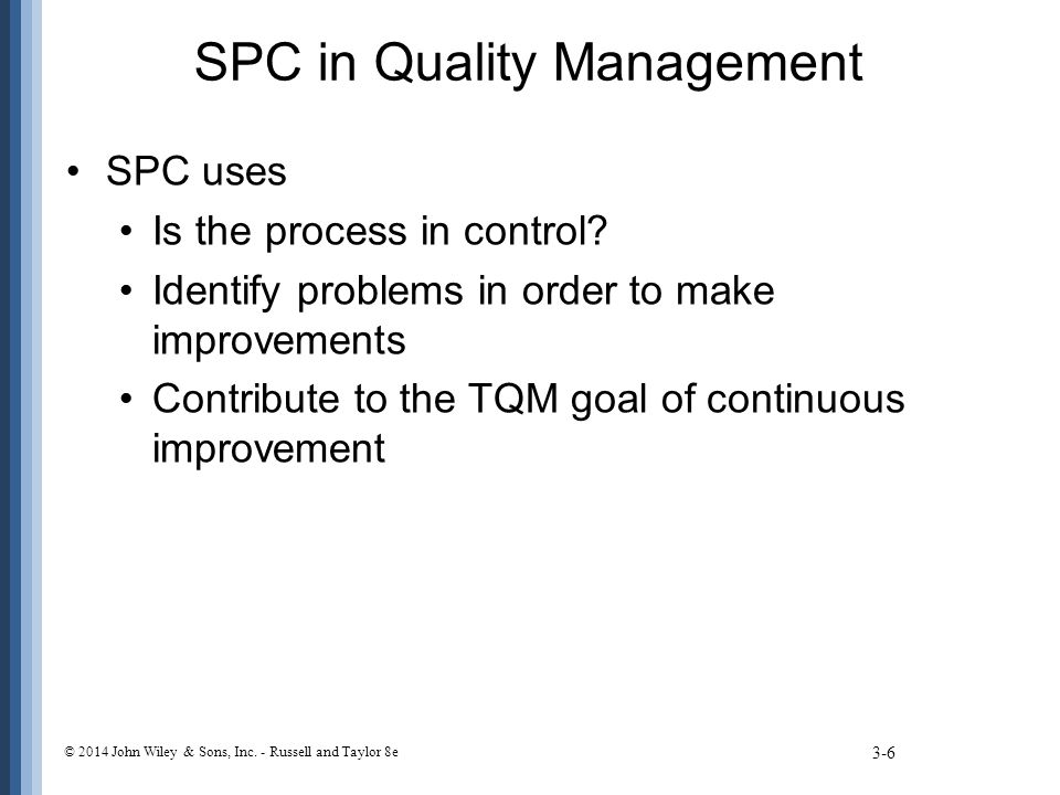 SPC in Quality Management