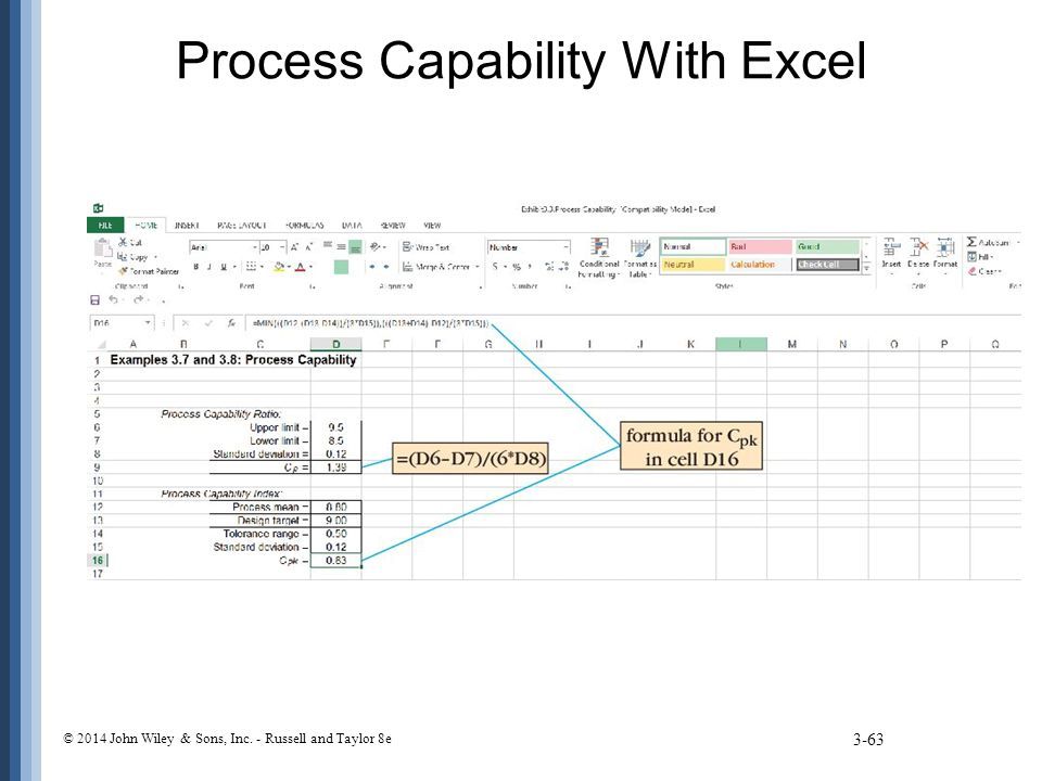 Process Capability With Excel