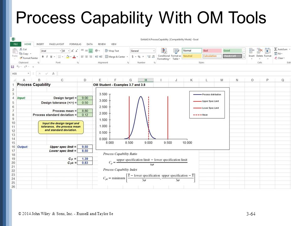 Process Capability With OM Tools