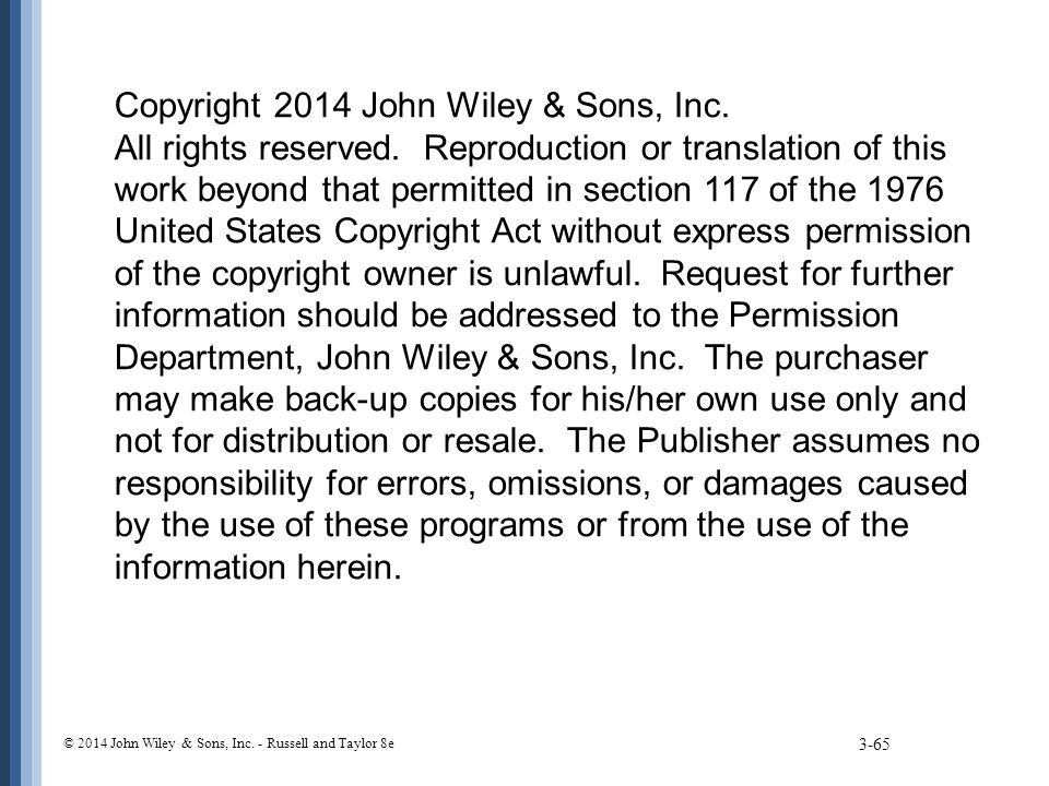 Copyright 2014 John Wiley & Sons, Inc. All rights reserved