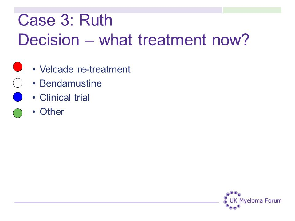 Case 3: Ruth Decision – what treatment now