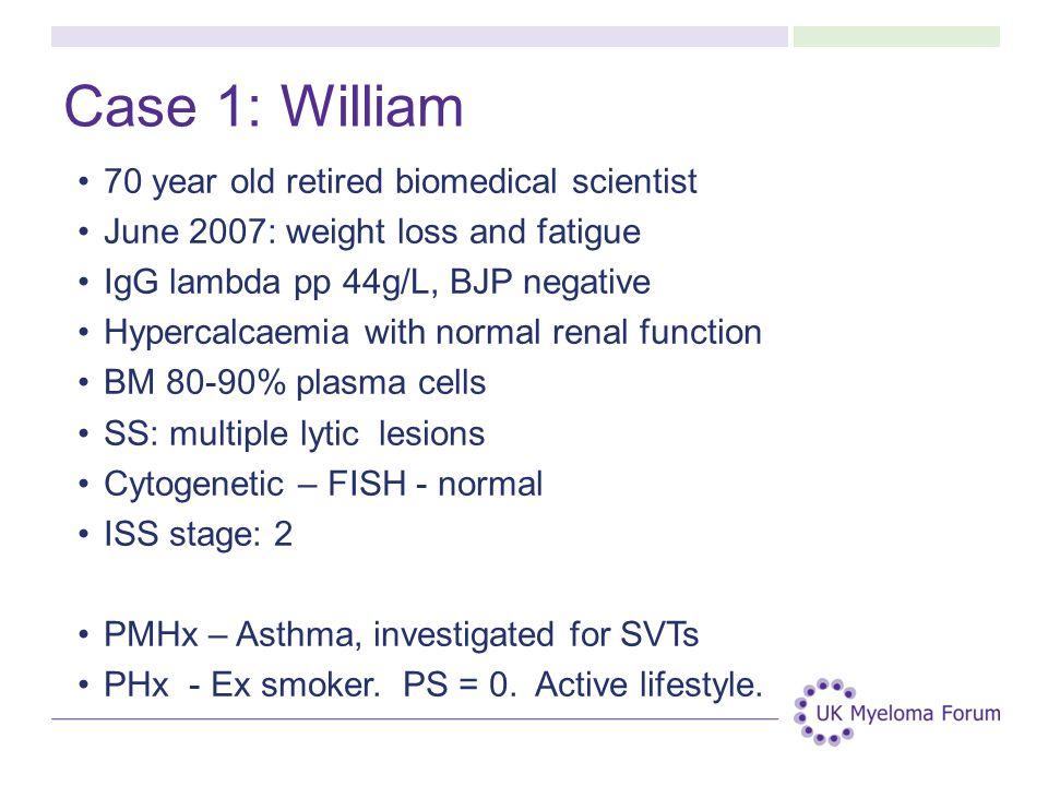 Case 1: William 70 year old retired biomedical scientist