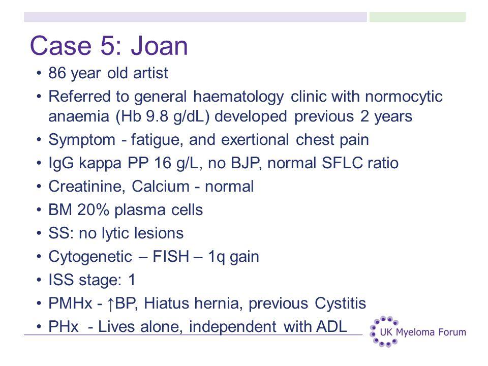 Case 5: Joan 86 year old artist