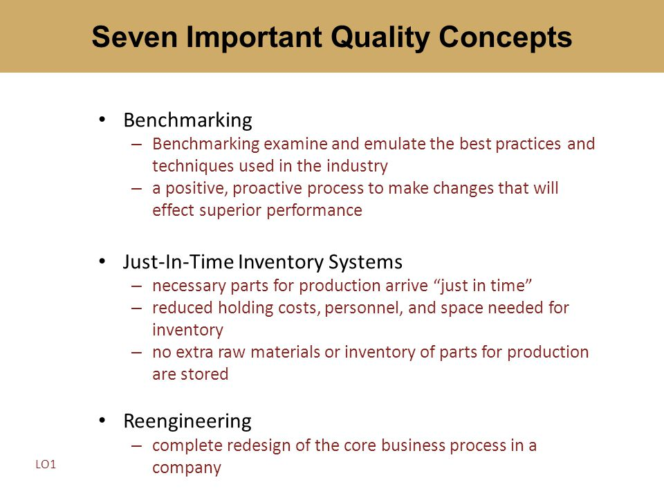 Seven Important Quality Concepts