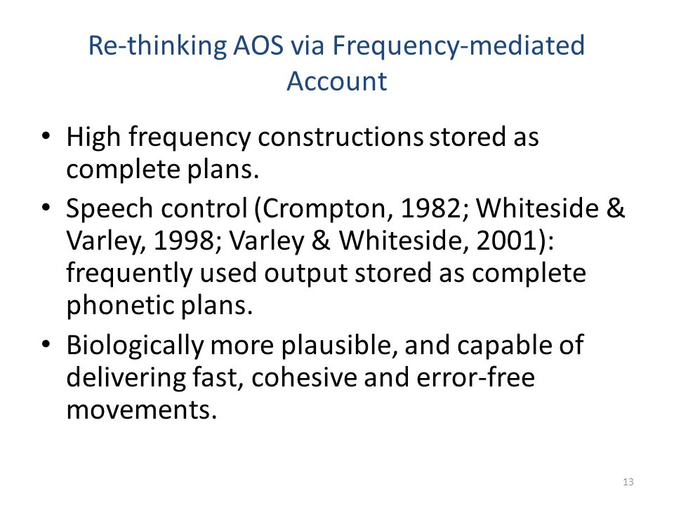 Re-thinking AOS via Frequency-mediated Account