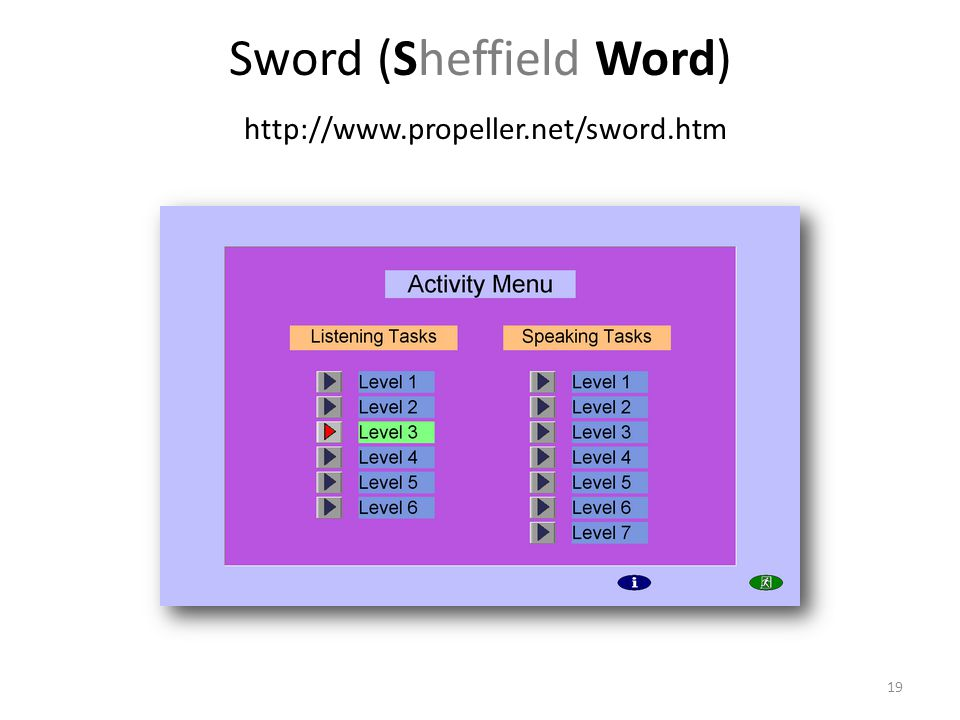 Sword (Sheffield Word) http://www.propeller.net/sword.htm