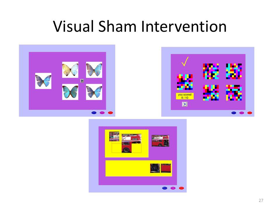 Visual Sham Intervention
