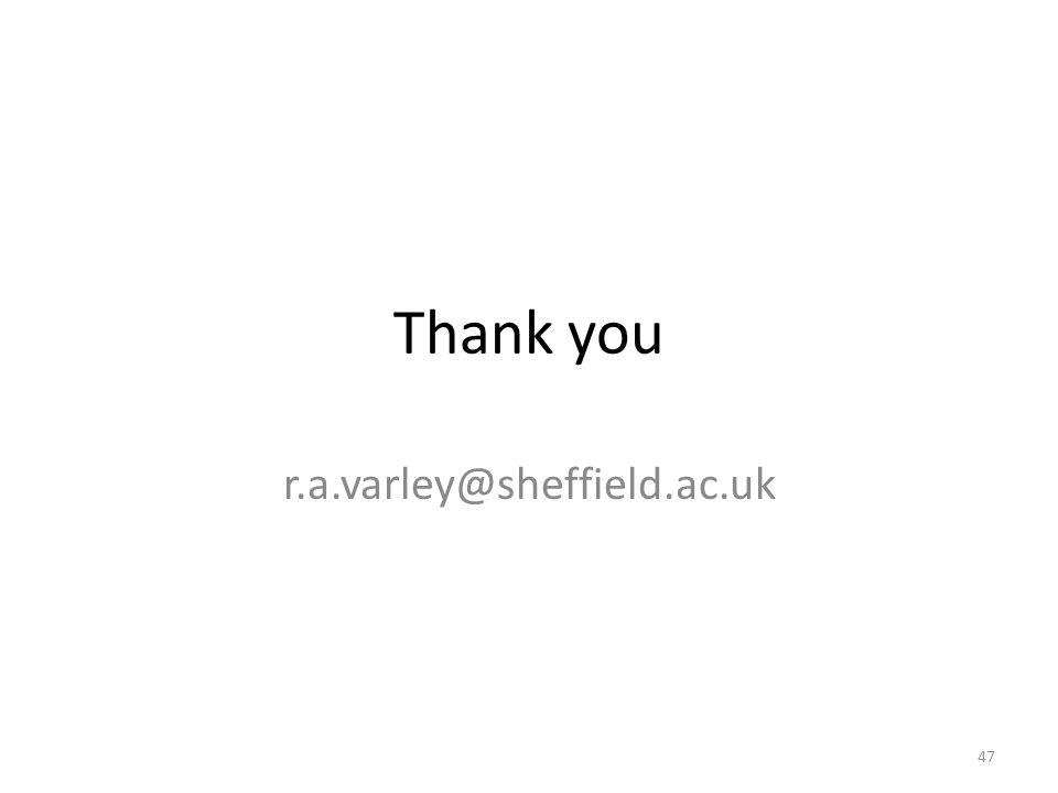 Thank you r.a.varley@sheffield.ac.uk