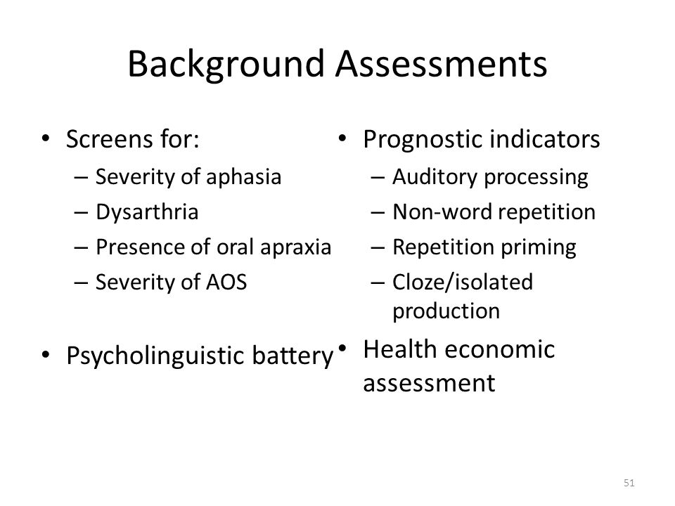 Background Assessments