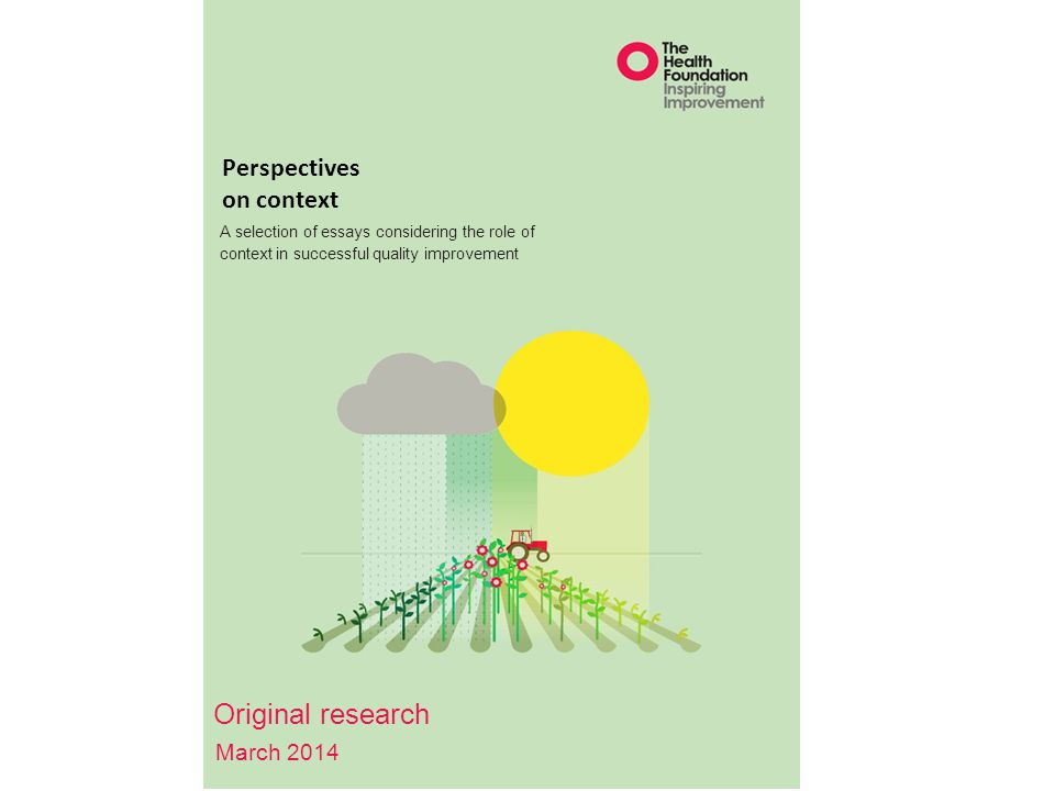 Original research Perspectives on context March 2014