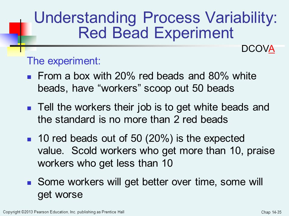 Understanding Process Variability: Red Bead Experiment