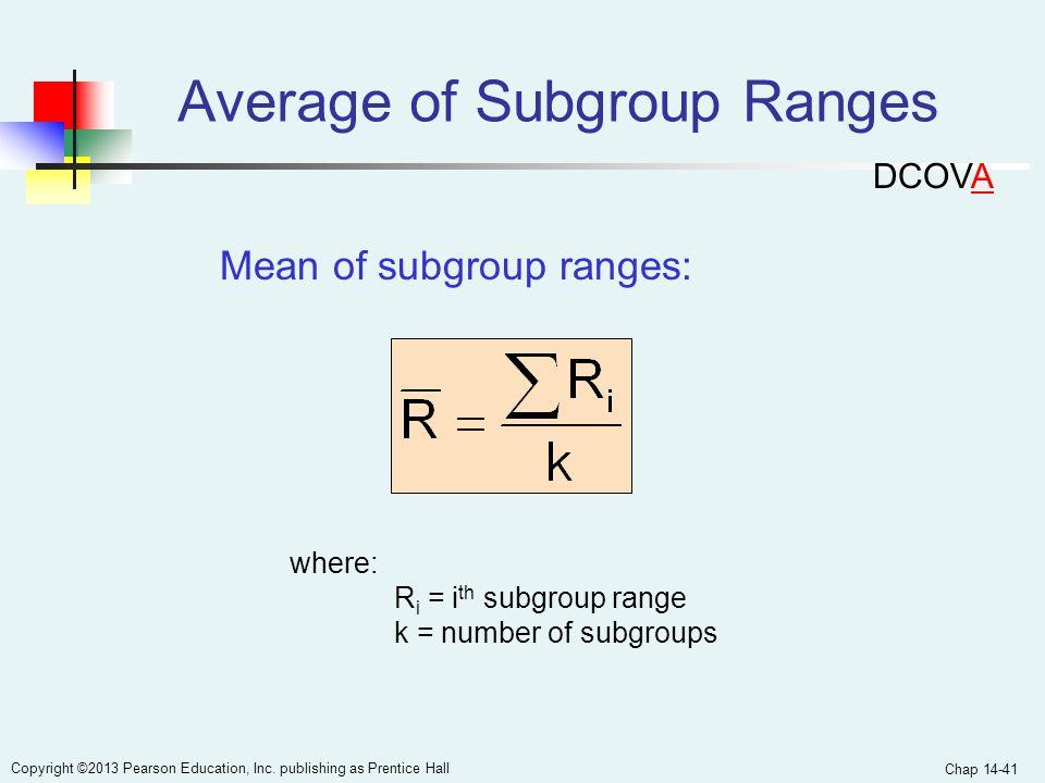 Average of Subgroup Ranges