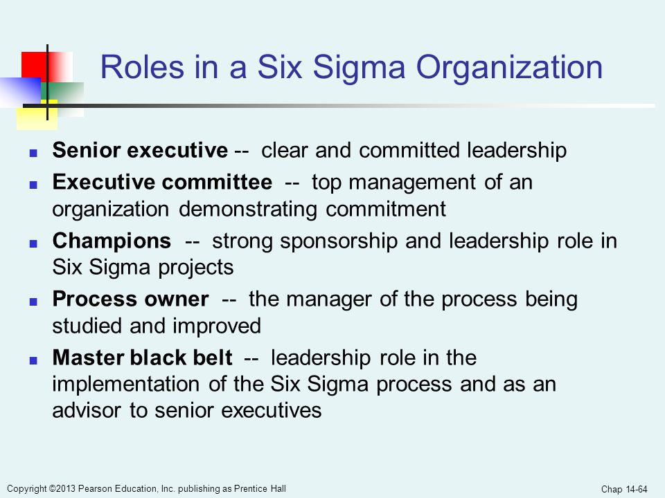 Roles in a Six Sigma Organization