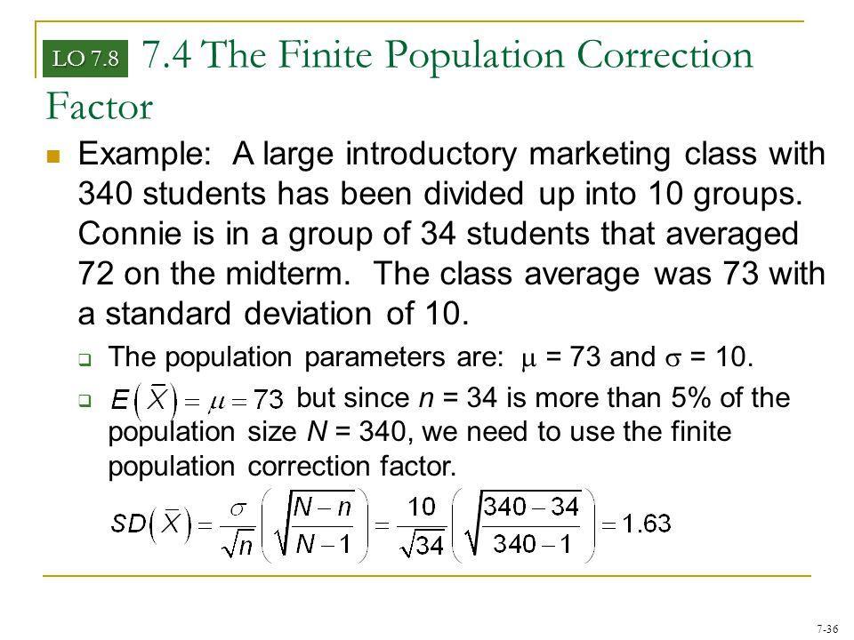 7.4 The Finite Population Correction Factor