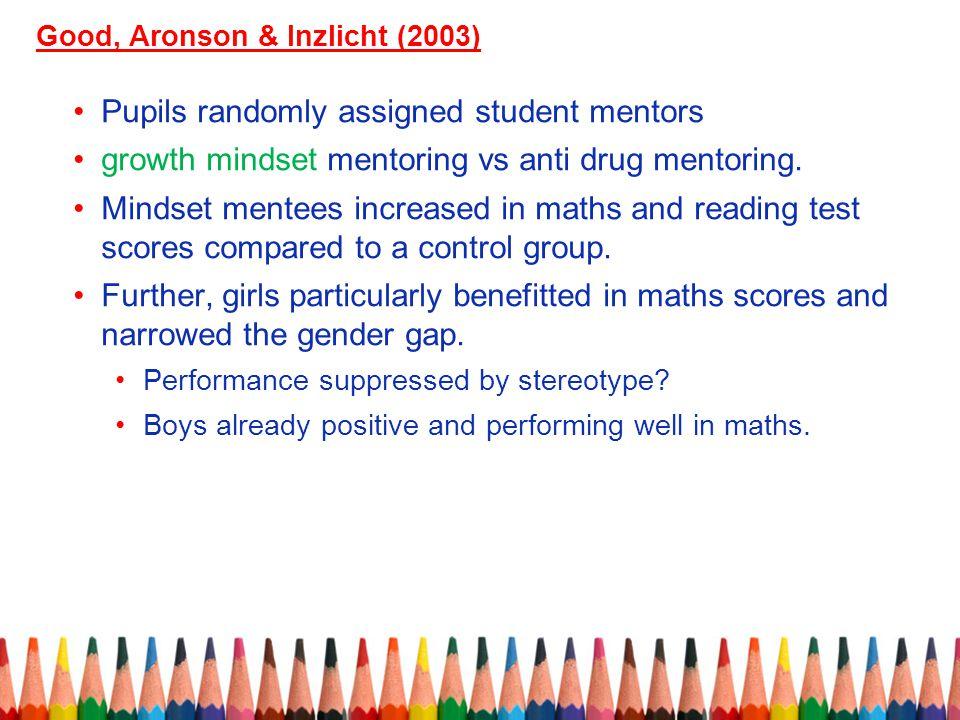 Pupils randomly assigned student mentors