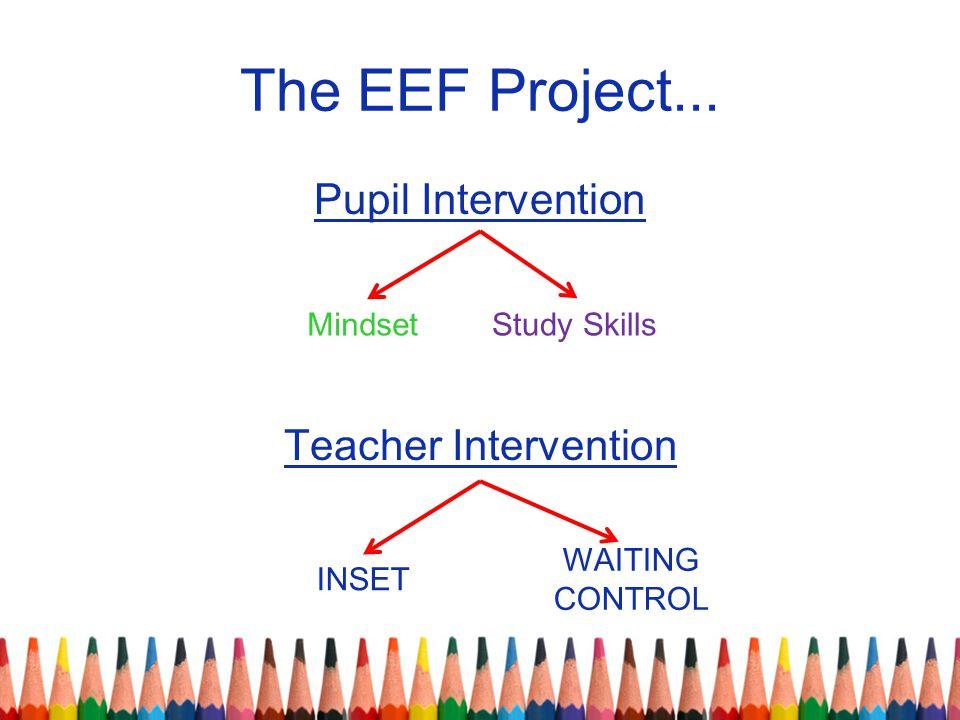 Pupil Intervention Teacher Intervention