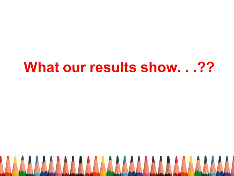 What our results show. . .