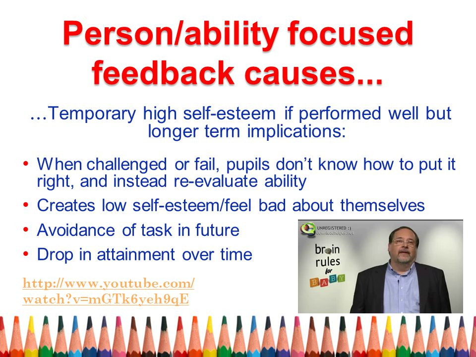 Person/ability focused feedback causes...