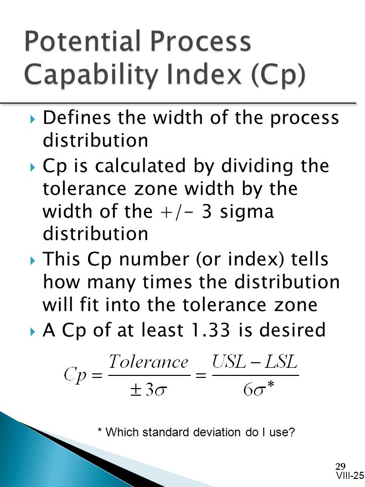 Potential Process Capability Index (Cp)