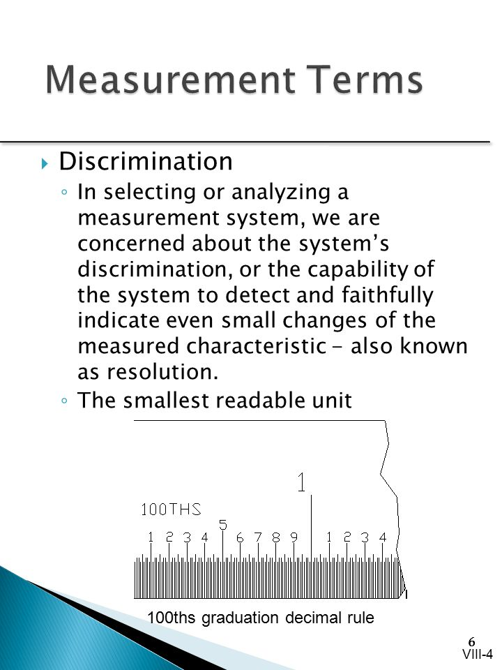 Measurement Terms Discrimination
