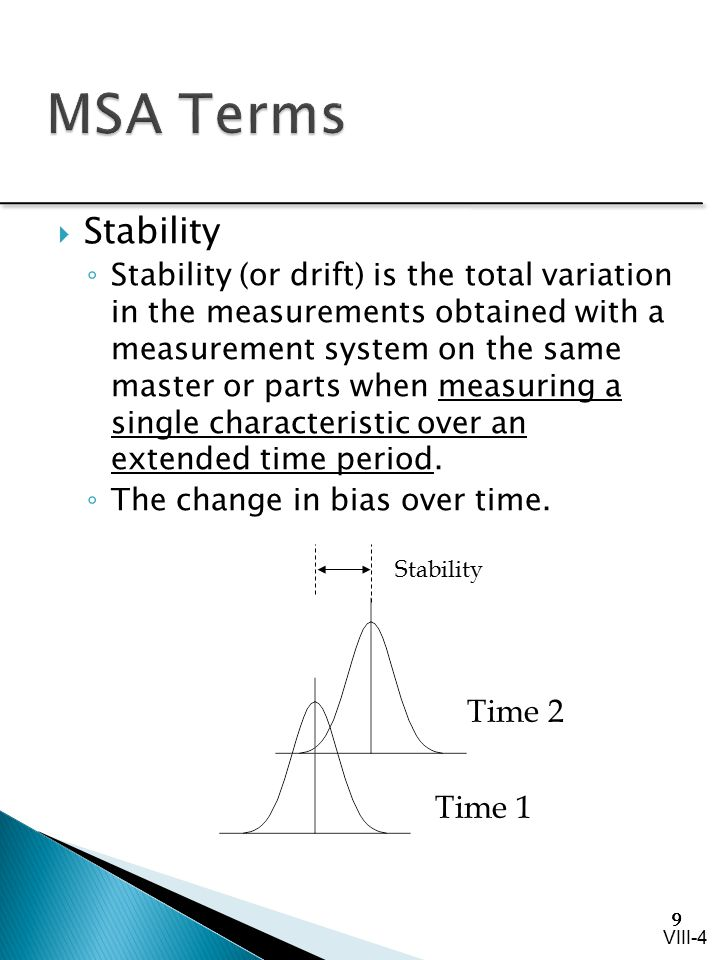 MSA Terms Stability Time 2 Time 1