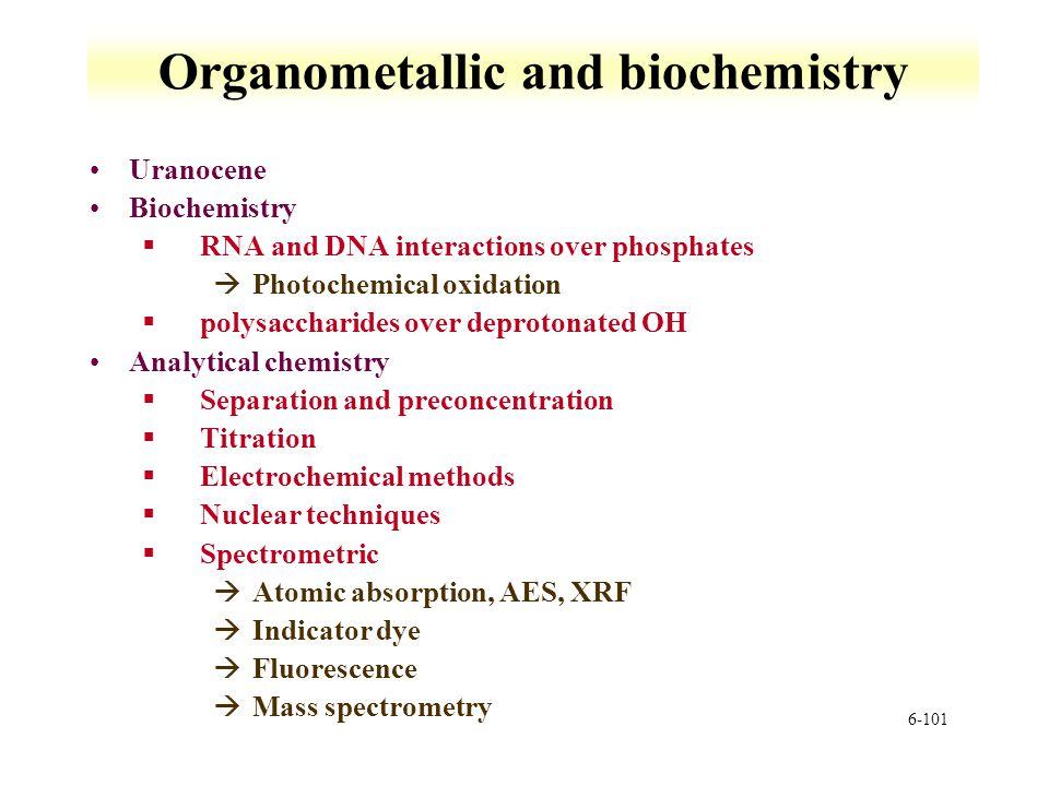 Organometallic and biochemistry