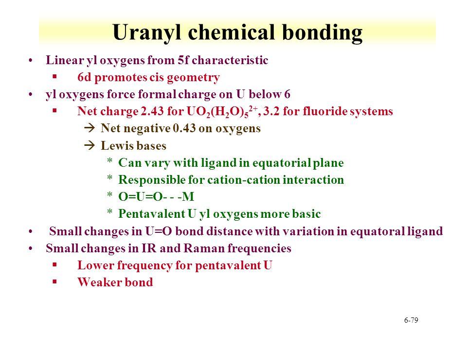 Uranyl chemical bonding